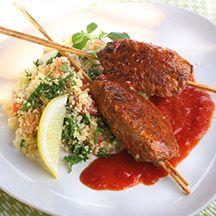 Ört och couscoussallad med tomatspett - 12p