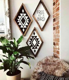 988 Likes, 34 Comments - Kacy Brynn Diy Bedroom Decor, Living Room Decor, Diy Home Decor, Living Rooms, Western Style, Diy Wood Signs, Home And Deco, Bohemian Decor, Gypsy Decor