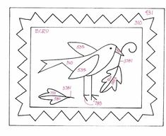 Résultat d'images pour Free Punch Needle Embroidery Patterns Folk Embroidery, Japanese Embroidery, Embroidery Patterns Free, Cross Stitch Embroidery, Penny Rug Patterns, Rug Hooking Patterns, Bird Patterns, Wooly Bully, Primitive Stitchery