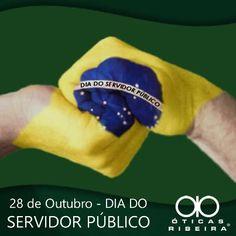28 de Outubro - DIA DO SERVIDOR PÚBLICO! O dia de hoje contempla milhões de brasileiros, nas diversas esferas de poder. Brasileiros que servem ao Estado e andam de mãos dadas com a sociedade, nas mais diferentes áreas de trabalho.