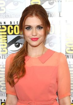 Holland Roden. She is simply amazing. This is my favorite shade of red for hair.