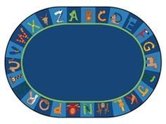 Carpets for Kids A to Z Animals Alphabet Circle Time Classroom Rug, x Oval Carpets For Kids, Kids Rugs, Kids Magnets, Plush Area Rugs, Oval Rugs, Animal Rug, Animal Alphabet, Animal Letters, Carpet Stains