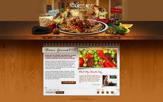 cooking site web design