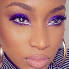 #EyeMakeupGlitter Eye Makeup Glitter, Prom Makeup For Brown Eyes, Colorful Makeup, Simple Makeup, Eyebrows, Hot Pink Lipsticks, Natural Blush, Natural Makeup, Makeup Trends