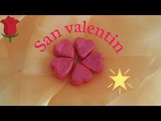 como hacer corazonez con foamy moldeable - YouTube