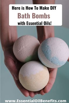 How To Make DIY Bath Bombs With Essential Oils - see here! #EssentialOils #BathBombs #DIY #Selfcare