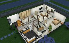 Sims Freeplay layout Sims freeplay houses Sims house design House layouts