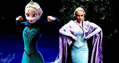 """Elsa from """"Frozen"""" and """"Once Upon A Time"""" - I love how they translated Elsa's powers into a live-action realm :)"""
