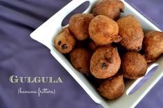Mom's Gulgula (Banana fritters) - The Hindu festival of Holi, also known as Phagwah, is soon approaching and I can't help but feel the optimism and joy. Fiji Food, Guyanese Recipes, Banana Fritters, Quick Appetizers, Island Food, Caribbean Recipes, Caribbean Food, Curry Recipes, Vegetarian Recipes
