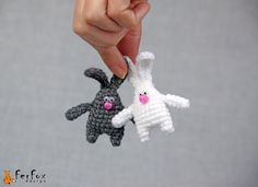RESERVED FOR LOWENNA Bunny Brooch, rabbit pin, crochet pin, animal brooch, children jewelry, funny brooch, animal pin