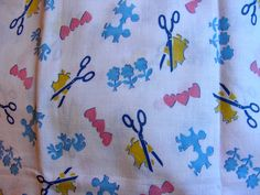 Vintage FEEDSACK Cotton Novelty Fabric RARE by anne8865 on Etsy