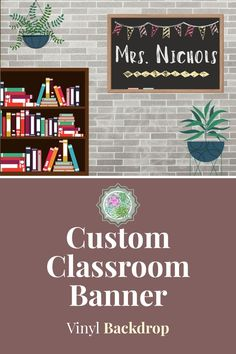 Customize your own online teaching backdrop! This beautiful farmhouse decor is printed on high quality vinyl with grommets for easy hanging! Classroom Banner, Classroom Background, Classroom Decor, Classroom Teacher, Online Classroom, Vinyl Backdrops, Vinyl Banners, Light Reflection, Esl