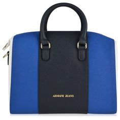 Armani Jeans Block Colour Bag ( 260) ❤ liked on Polyvore featuring bags cbc99da320713