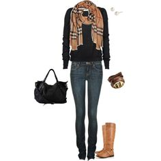 """Casual Friday Burberry Style"" by heatherjo7 on Polyvore"