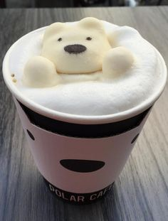 Ocean latte art polar bear