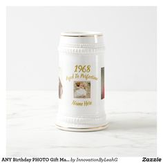 ANY Birthday PHOTO Gift Man or Woman Custom Beer Stein German Beer Mug, Man Birthday, Birthday Gifts, Birthday Nails, Birthday Photos, Custom Mugs, Gifts For Him, Fun Gifts, Home Gifts