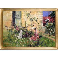 La Pastiche Giovanni Boldini 'Spring 1873' Hand Painted Framed Art