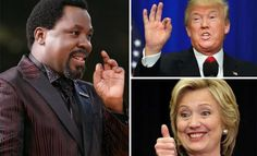 Funny tweets about TB Joshua as Trump wins US election    A number of people have flooded social media platform Twitter with interesting tweets about Prophet TB Joshua as his prophecy on the US election was not realized.The General Overseer of the Synagogue Church Of All Nations (SCOAN) predicted that the Democrat candidate Hillary Clinton would win the US Presidential election in a narrow victory against Republican candidate Donald Trump.Ten days ago I saw the new President of America with…