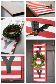 Cute and Easy JOY Sign! How To - Christmas Decoration outdoor sign Step by Step Tutorial