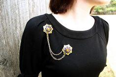 DIY Joan Holloway Brooch #handmade #tutorial #jewelry
