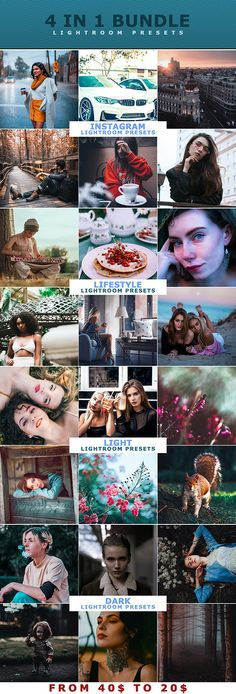 4 IN 1 Lightroom Presets Bundle Professional Lightroom Presets, Color Filter, Creative Artwork, 4 In 1, Christmas Illustration, Photoshop Actions, Photo Editing, Art Photography, Graphic Designers