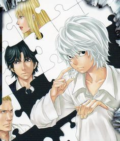 """mikami: """" Some Near cards from the TCG for good measure """" Death Note Near, L Death Note, Boy With White Hair, Death Note Fanart, Death Note Light, Nate River, L Lawliet, Shinigami, Anime Angel"""