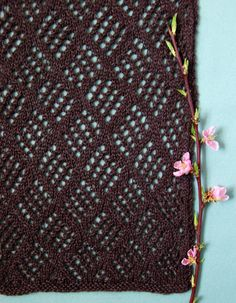 Beautiful easy to knit scarf- love it!