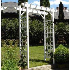 White Garden Arch Arbor Wedding Pergola Backyard Patio Landscape Trellis Outdoor for sale online Vinyl Pergola, Metal Pergola, Cheap Pergola, Backyard Pergola, Patio, Pergola Kits, Pergola Ideas, Arbor Ideas, White Pergola