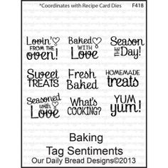 Baking Tag Sentiments - Our Daily Bread Baking