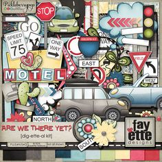 Are We There Yet? Dig-ette-al Kit By Fayette Designs