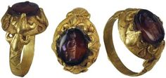 Ancient Artifacts - Roman artifacts ring 100 AD Roman Jewelry, Old Jewelry, Antique Jewellery, Antique Rings, Jewelery, Fine Jewelry, Roman Artifacts, Ancient Artifacts, Bling Bling