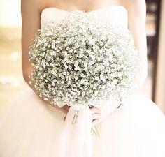 Brudbukett - brudslöja