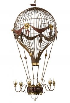 hello future house - (via Balloon Chandelier - Lamberty Antiques)