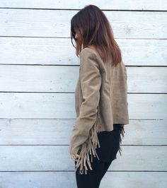 jacket, leather, suede, fringe, new kogotho