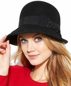 e51b9990aa3e93 Nine West Felt Downtown Cloche with Bow Hat & Reviews - Handbags &  Accessories - Macy's
