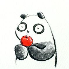 【一日一大熊猫】 2015.3.29 引っ越し祝いに火を連想させるものや 赤い物はNGだと言われているね。 じゃ、上野にリーリーとシンシンがやって来た時は 大好きなリンゴはNGだったのかな。 #引っ越し祝い