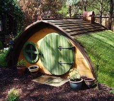 Cute Hobbit House Kit in Garden Landscapes Sheds, Huts