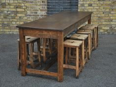 Vintage Oak Wood Chemistry/Lab School Table, Kitchen Island, Maple ...