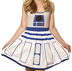 Star Wars- R2-D2 Costume Dress Mini Dress Size XXL