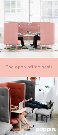 Explore our solutions for every room in your office. Our colorful, flexible privacy solutions are always in stock ship for free. Office Lounge, Office Seating, Lounge Seating, Lounge Ideas, Office Furniture, Office Decor, Home Office, Furniture Design, Office Style