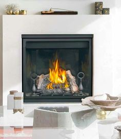 """Napoleon Gas Fireplace Clean Face HD35 Direct Vent 36""""  Modern Log Set #Napoleon"""