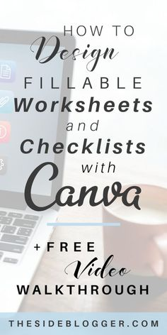 How to design worksheets, checklists and workbooks in Canva that you can use as email opt-in incentive/freebie. Web Design, Graphic Design Tips, Tool Design, Cafe Design, Entrepreneur, Corporate, Apps, Social Media Graphics, Affiliate Marketing