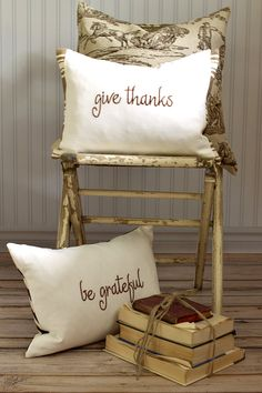 Decorative Pillow Cover Fall Thanksgiving by SuttonPlaceDesigns