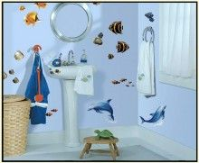Under The Sea Appliques..just peel and stick http://www.muralsforkids.com/products/Under-The-Sea-Appliques.html
