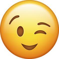 This emoji is clearly winking at the viewer. Ios Emoji, Smiley Emoji, Funny Emoji Faces, Funny Emoticons, Emoji Wallpaper Iphone, Cute Emoji Wallpaper, Emoji Pictures, Emoji Images, Emoji Legal