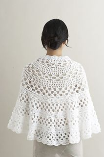 This circle shawl is simple, but stunning. (Lion Brand Yarn)