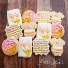 Sweet Missy's - Baby shower cookies! I love these colors. So girly!
