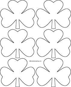 Patrick's Day Shamrock Templates for Crafts - St. Patrick's Day Shamrock Templates for Crafts St. Patrick's Day Shamrock Templates for Crafts - Shamrock Printable, Shamrock Template, Saint Patrick's Day, St Patrick Day Activities, Fun Activities, St Patricks Day Crafts For Kids, March Crafts, St. Patricks Day, St Patrick's Day Decorations