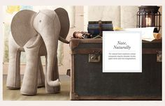 Felt Elephant by Restoration Hardware baby and child