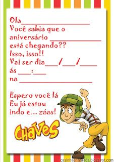 Kit Festa do Chaves Para Imprimir
